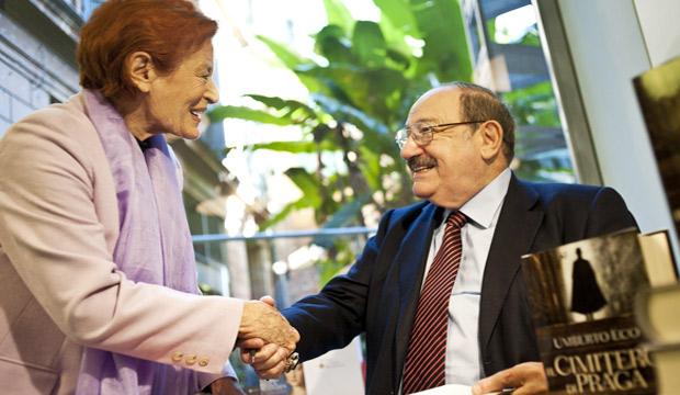 Umberto Eco con Meri