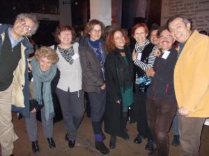 Meri in mezzo agli ex allievi del Liceo Unitario Sperimentale, Roma 2012